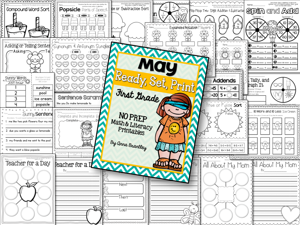 http://www.teacherspayteachers.com/Product/Ready-Set-Print-May-Math-and-Literacy-Printables-1224141