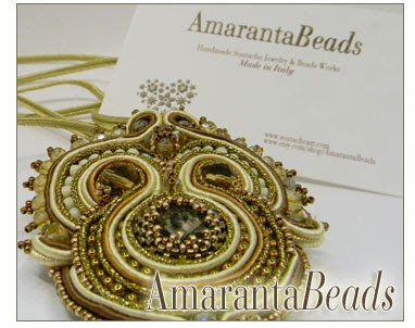 Tuscany Honey - Soutache Jewelry