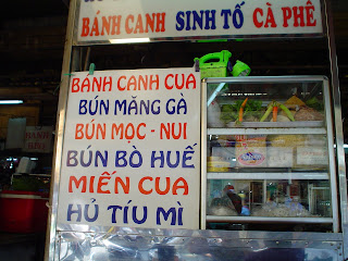 Food stand in Vietnam