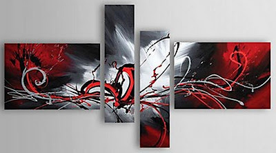 Pinturas tem ticas cuadros tr pticos abstractos modernos - Triptico cuadros modernos ...