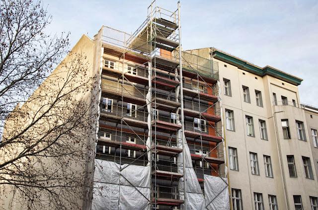 Baustelle Kurfürstenstraße, Blumenthalstraße, 12103 Berlin, 22.12.2013