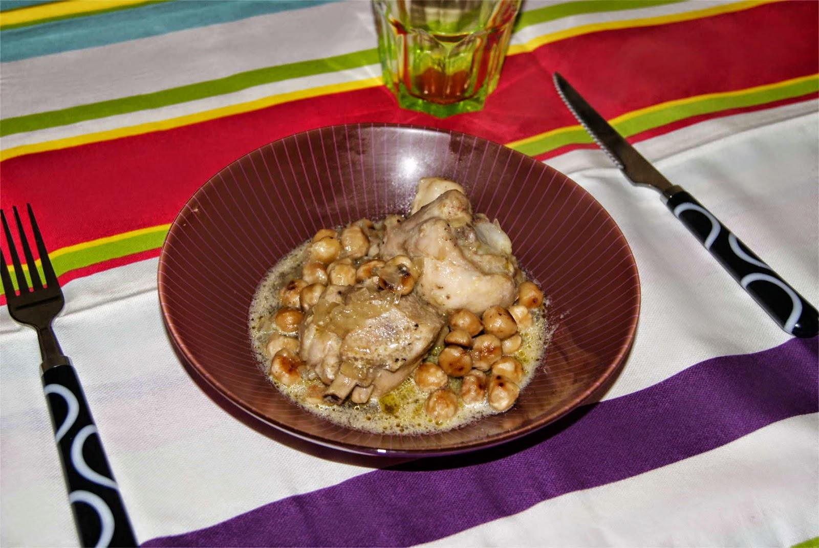 Pollo con avellanas paso 5