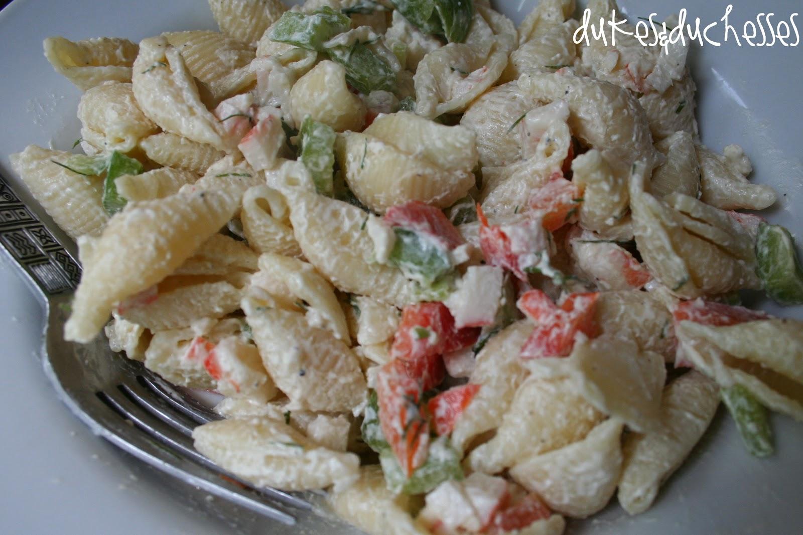 Favorite :: Crab Pasta Salad - Dukes and Duchesses