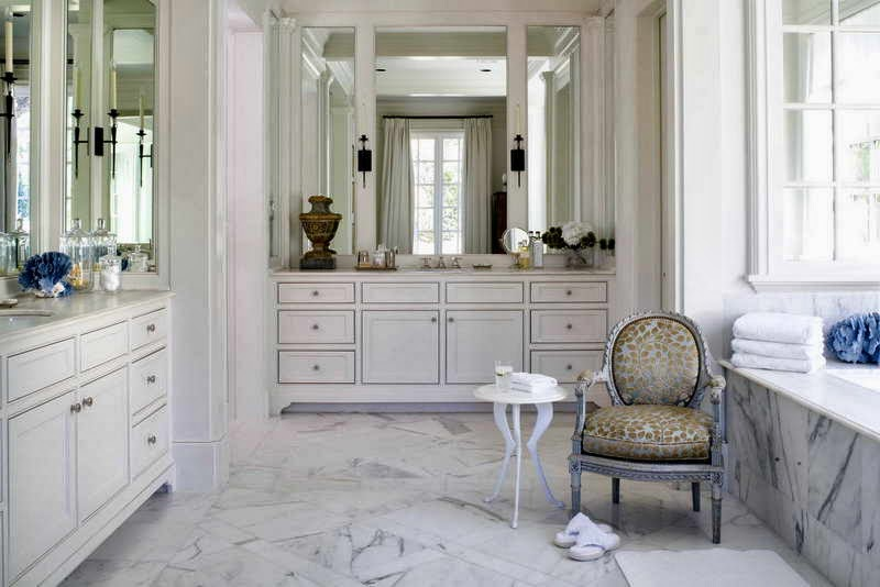Spectacular Apartment Decorating Ideas for Bathroom With Marble Floor