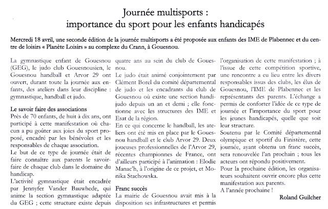 ADAPEI - Extrait du Bulletin d'information N°122 du mois de juillet 2012