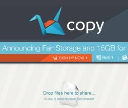spazio online e applicazione Copy da 15 GB