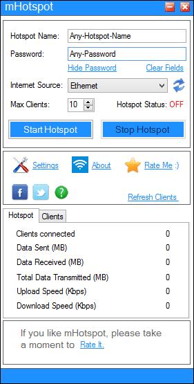 Menggunakan mHotspot