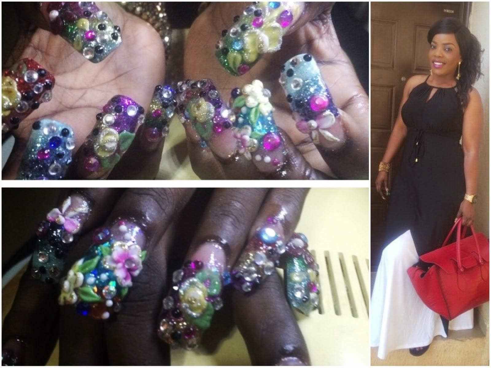 Lawrencia Udife\'s Blog: Empress Njamah Flaunts Her Artistic 3D Nails ...