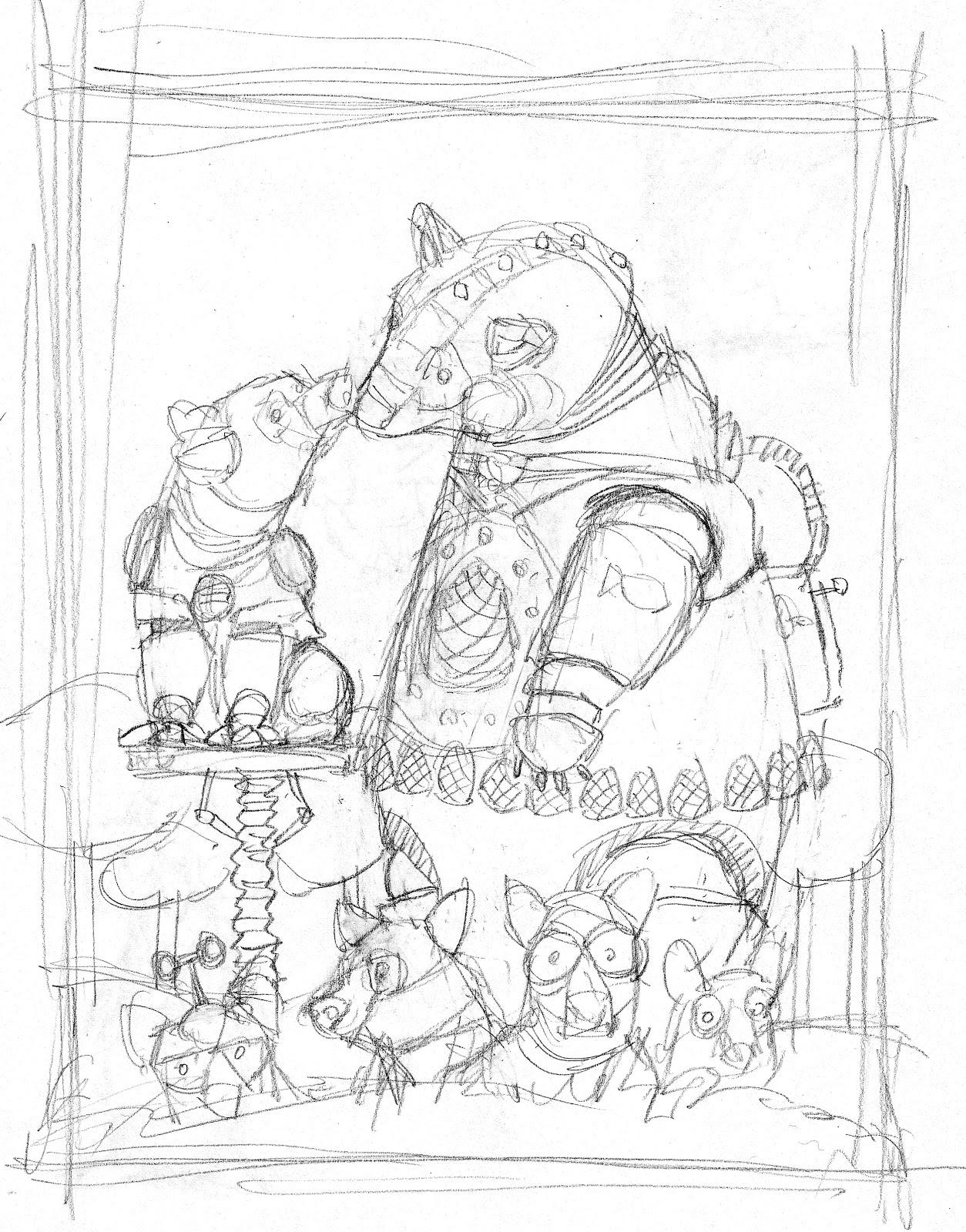 Robot Concept Drawings Robot Bear Concept Sketches