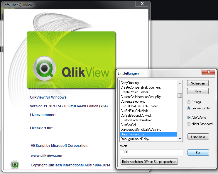 DataPreview QlikView Easter Egg