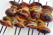 kielbasa and potato shish-kabobs