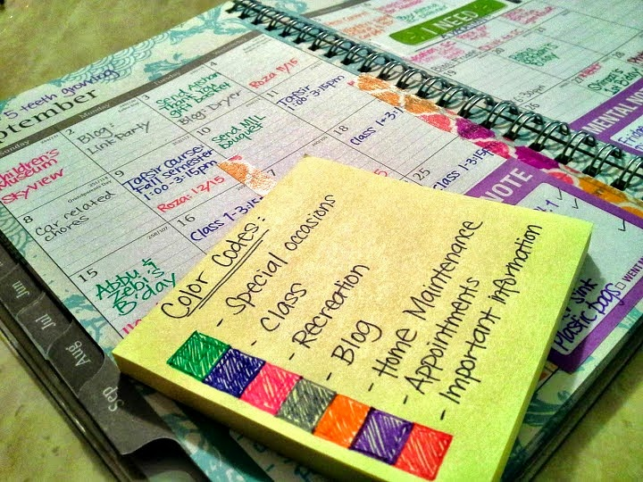Simply in control abfol planner challenge part 2 2 for Color coding planner
