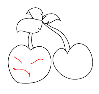 How To Draw Plants vs Zombies Cherries Step 4