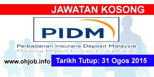 Jawatan Kerja Kosong Perbadanan Insurans Deposit Malaysia (PIDM) logo www.ohjob.info ogos 2015