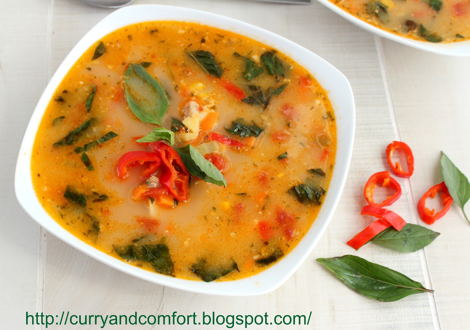 Kitchen Simmer: Thai Red Curry Chicken and Corn Soup