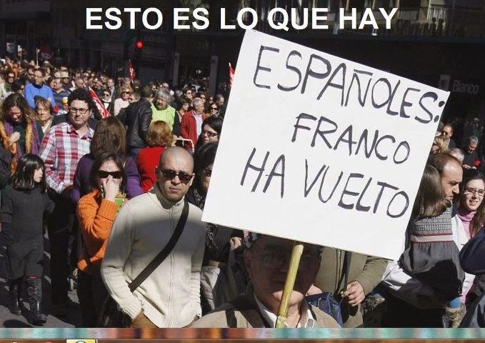 Españoles Franco ha vuelto
