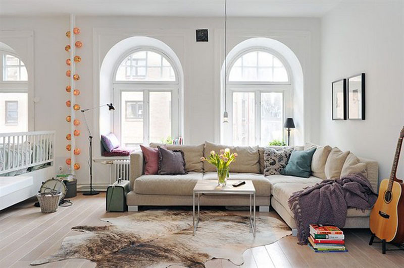 Superieur Fur Rug (faux I Hope!), Functional Decor, Muted Pops Of Color (@ Creative Home  Design)