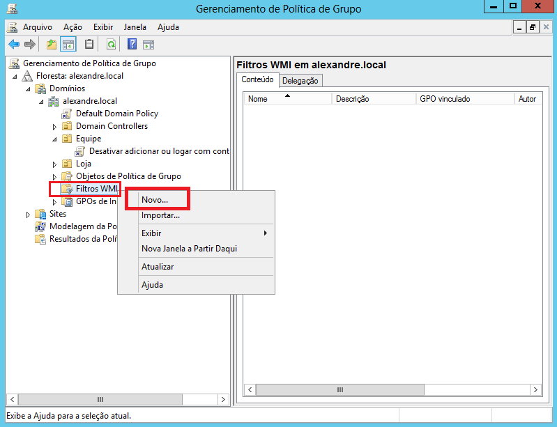 how to create a wmi filter for gpo