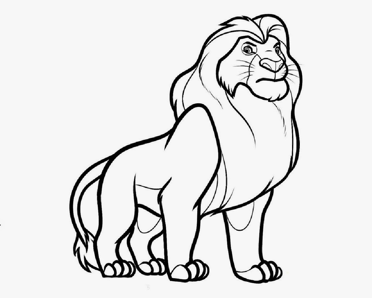King Line Drawing Disney Cartoon The Lion King