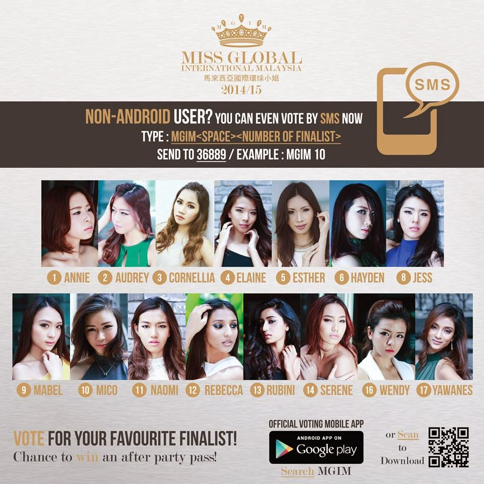 VOTE YOUR FAVORITE MGIM 2014 CONTESTANTS.