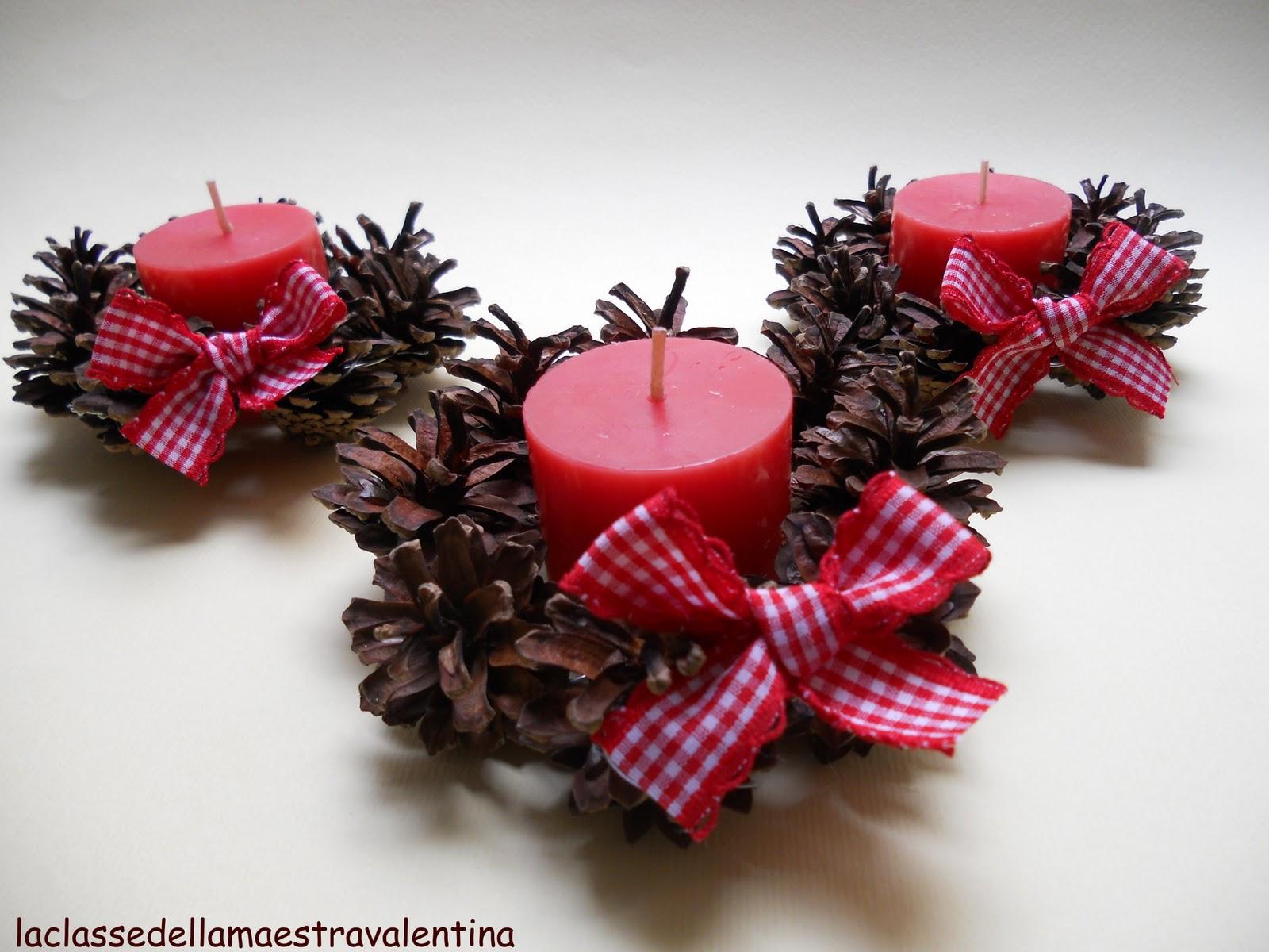 La classe della maestra valentina piccole ghirlande di pigne for La maestra valentina