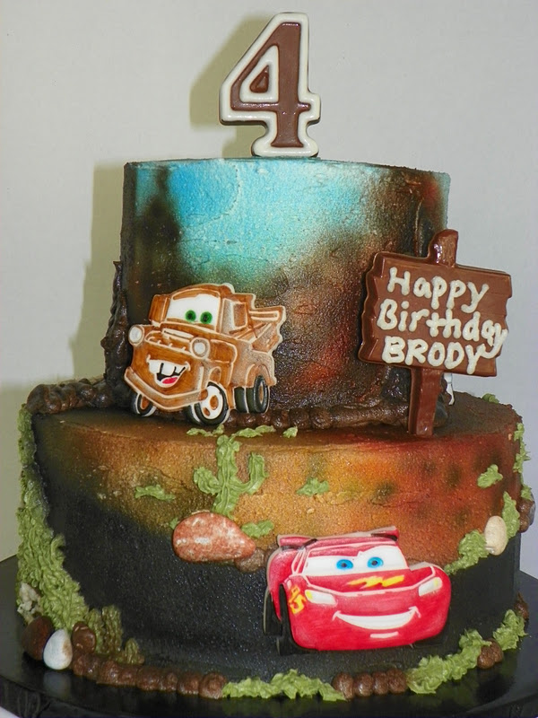 Plumeria Cake Studio Pixar Cars 2 Birthday Cake