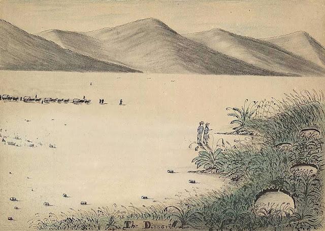 dry lake bed playa drawing