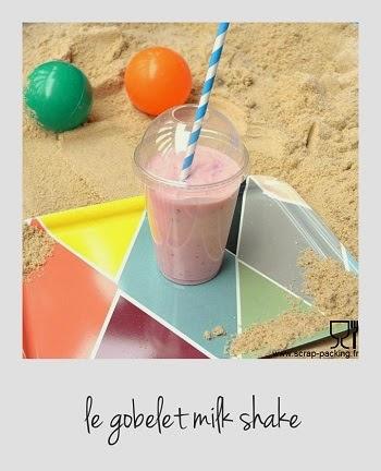 Milk shake gobelet troué avec couvercle