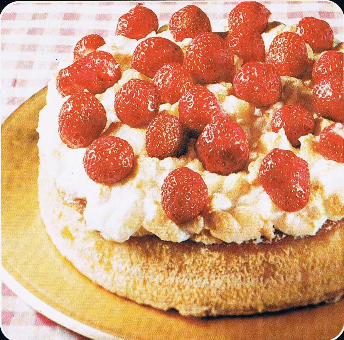 jordgubbstårta med maräng