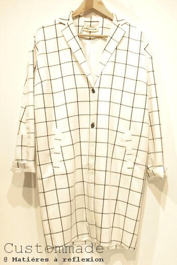 Manteau à carreaux Custommade petits prix