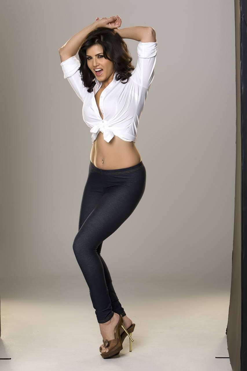 Thought differently, Sunny Leone nude white shirt