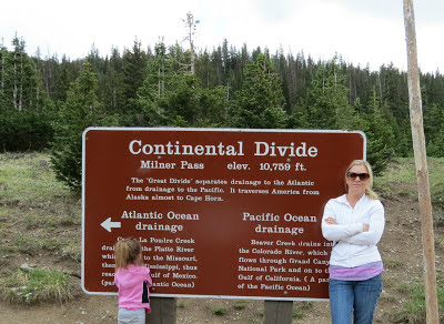 Continental Divide sign in Rocky Mountain National Park, CO www.thebrighterwriter.blogspot.com #RMNP #ColorfulColorado #Colorado