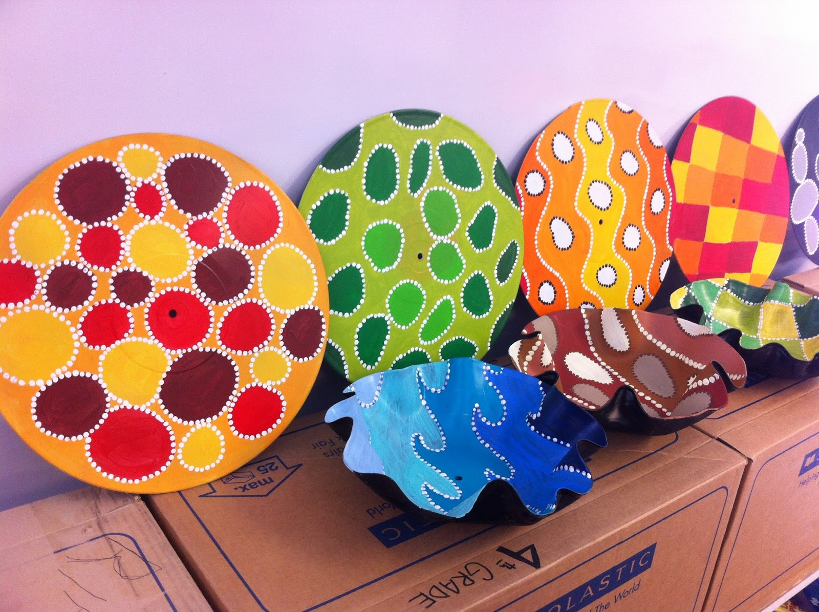 Rethink crafts recycled vinyl record bowls for Crafts with old records