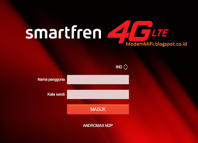 halaman log in AndroMax M2P