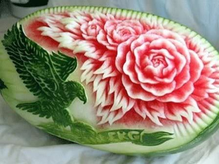 fruit carving seni mengukir buah yang mempesona