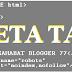 Sekilas Tentang META Tag Dalam Bahasa HTML