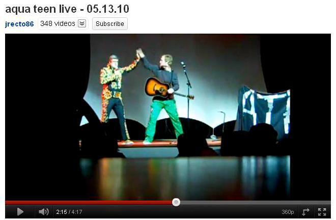 Aqua teen live