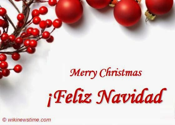 feliz navidad merry christmas spanish greetings