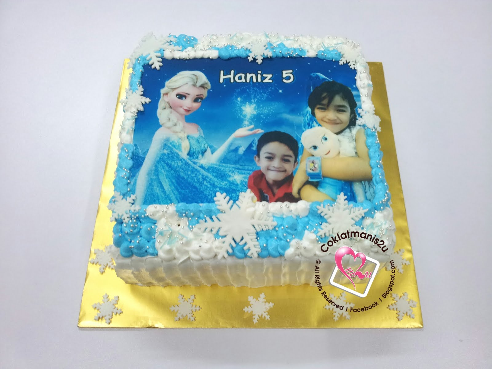 Birthday Cake + Custom Edible Image