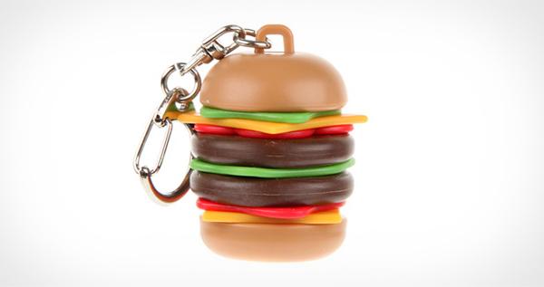 Burping Hamburger Keyring