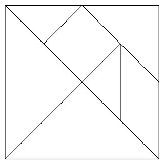 Canny image within printable tangrams