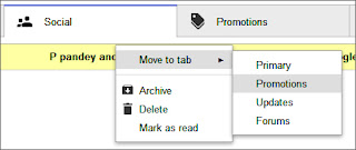 Email move in gmail tabs