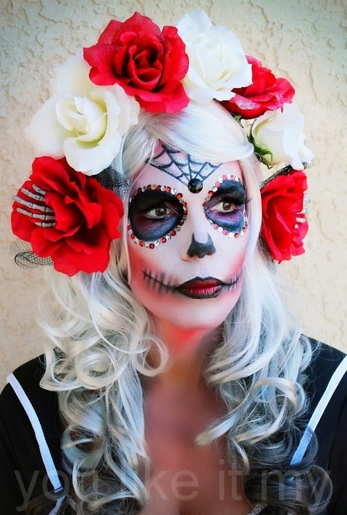 http://youlikeitmy.blogspot.com/2014/10/homemade-halloween-makeup-like-sugar.html