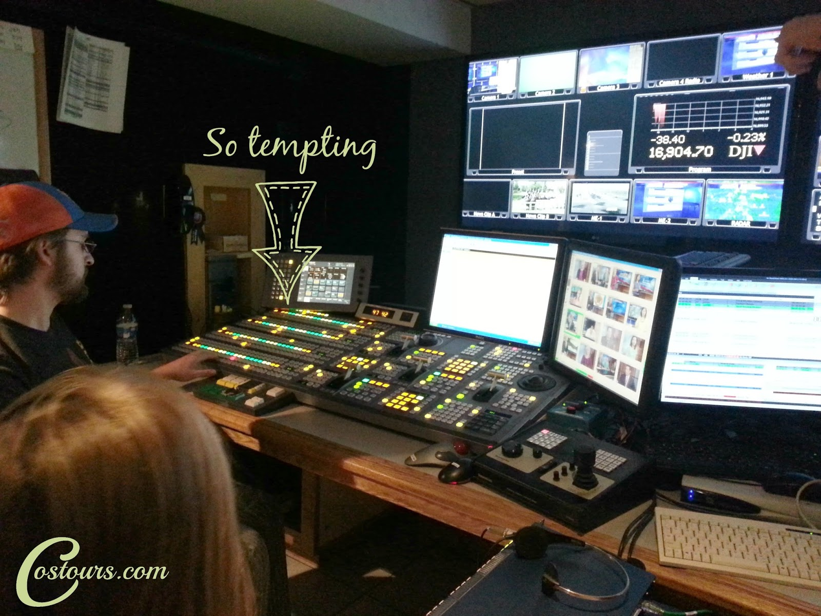 Go behind the scenes at a news station