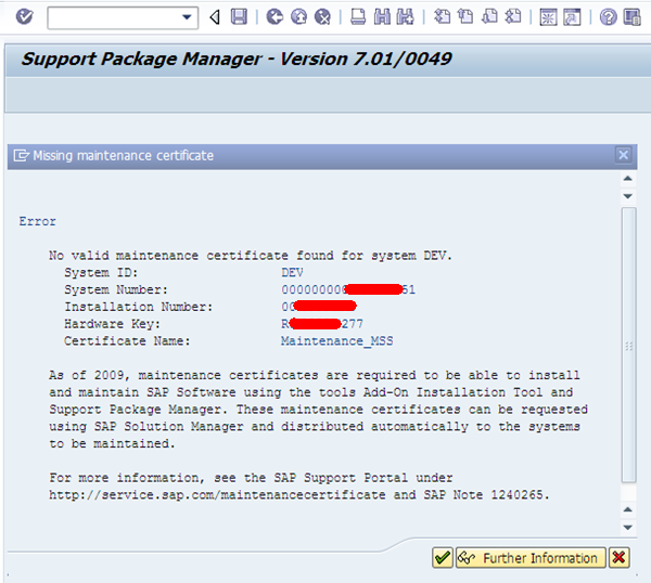 Sap Basis Professionals How To Download Maintenance Certificate