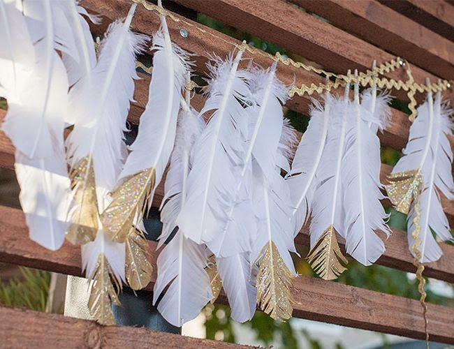 http://www.inspiredbythis.com/grow/boho-gold-baby-shower/
