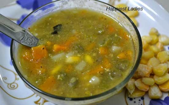 Vegetable Sweet corn soup