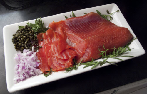 Susan mallery cooks gravlax salt and sugar cured salmon for Salt cured fish