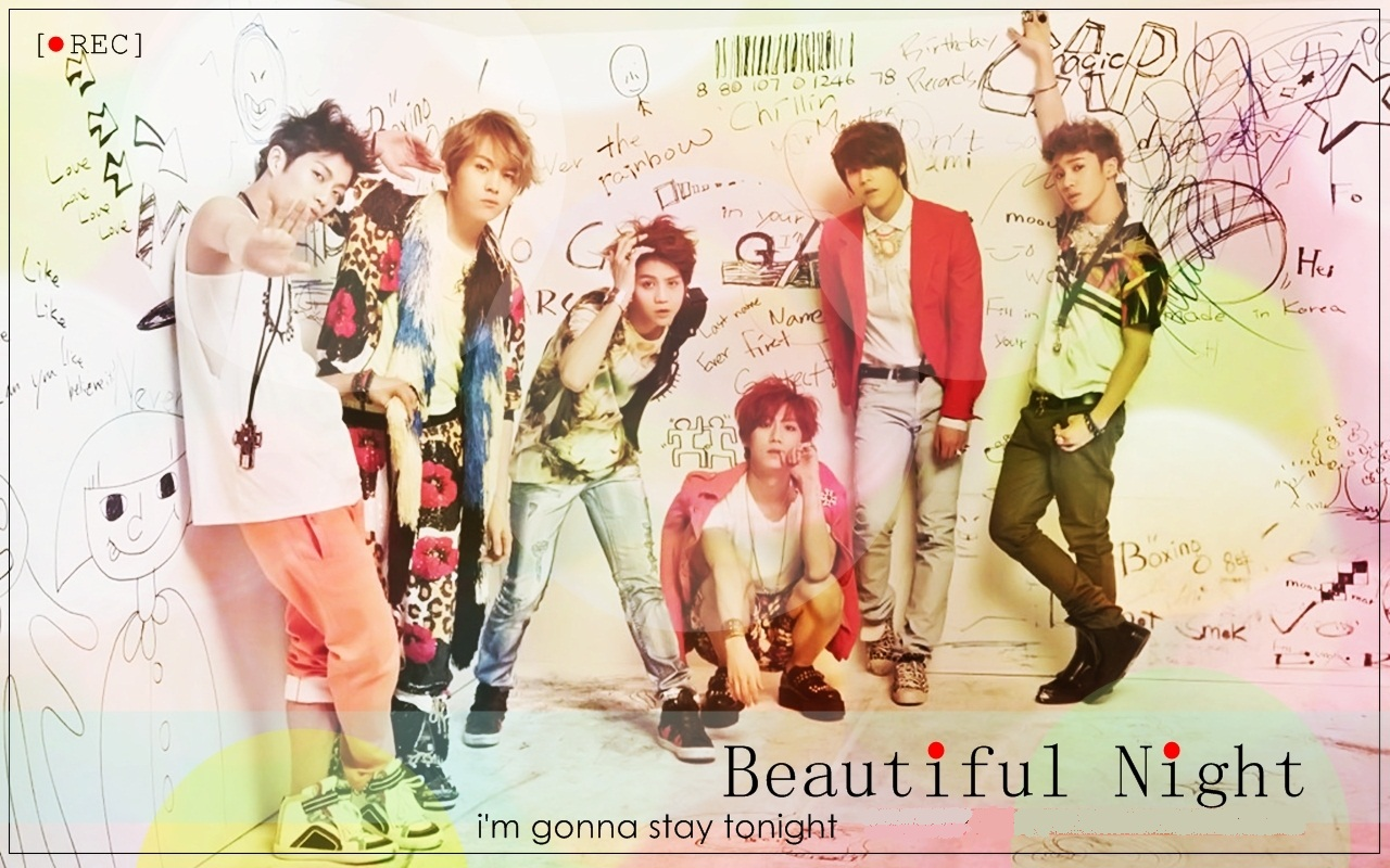 BEAST /B2ST Beautiful Night Wallpaper  Beautiful Song Lyrics