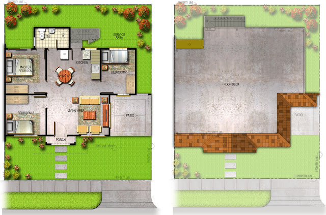 Spanish Walnut House Model Floor Plan with One Toilet and Bathroom at Villa Montserrat Taytay